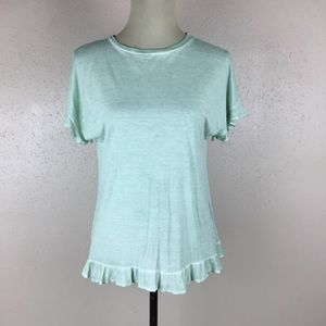 Alya Womens Mint Green Knit Top Size Small